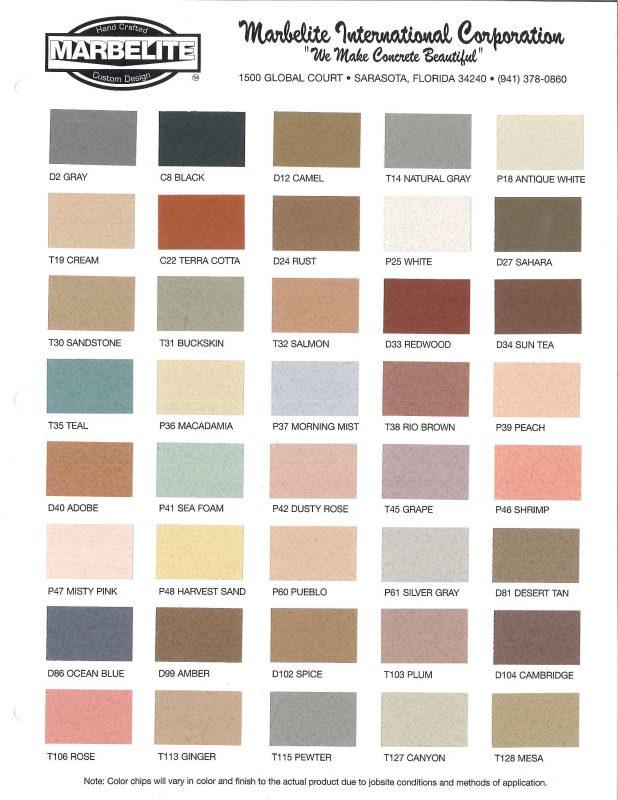 Similiar Mortar Color Chart Keywords